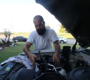 Chris Isbell donated hours of labor fixing the 1995 Suburban we bought for the ministry.
