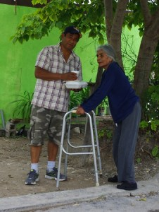 We have found other ways to minister to the elderly when delivering the meals.