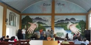 This mural was in a church where Mesa preached in Pueblo.