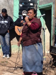 The local folks joined in with songs and testimonies.