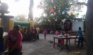 The children enjoyed the bounce house - a rare treat in Mexico.
