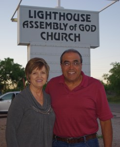Pastor Frankie and wife Shelia at church in Sweetwater, Texas.