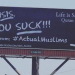 'Hey ISIS, you suck!' Muslims' war of words ad campaign prompts rubbernecking in Arizona