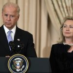 Clinton Slips While Stepping Away From Podium to Make Way for Biden