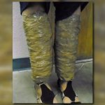 Woman caught trying to walk across border with meth taped to her legs