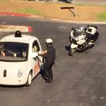 self-driving Google car will know when the police are approaching