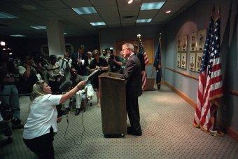 president-bush-delivers-remarks-on-the-terrorist-attacks-before-departing-for-offutt-air-force-base-in-nebraska