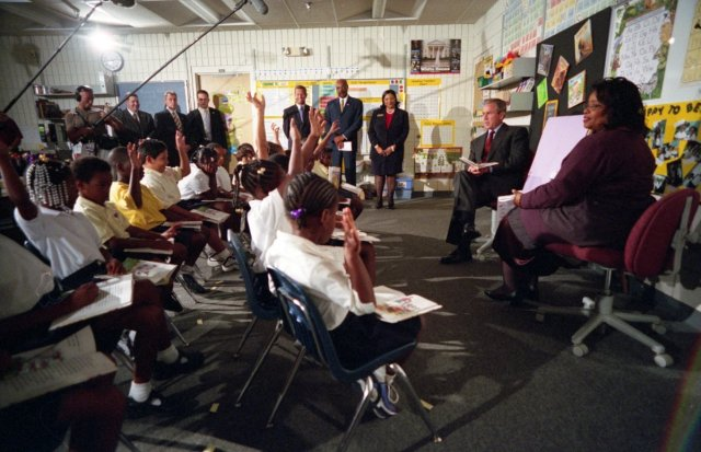 president-george-w-bush-participates-in-a-reading-demonstration-on-the-morning-of-tuesday-september-11-2001-at-emma-e-booker-elementary-school-in-sarasota-florida