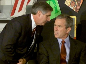 president-george-w-bush-was-at-a-school-event-when-he-was-informed-the-expression-on-his-face-says-it-all-no-one-in-the-government-knew-how-serious-the-threat-was