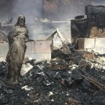 Jesus Statue Is All That's Left of TN House After Deadly Wildfires
