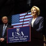 Betsy DeVos Promises To 'Make Education Great Again' On Trump's 'Thank You Tour'