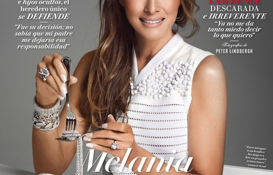 melania trump is eating jewelry on cover of vanity fair