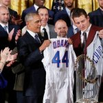 WATCH: Obama refers to himself 40 times during Cubs visit to White House