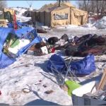 VIDEO: 'Environmentalists' burn pipeline protest camp as eviction hour nears