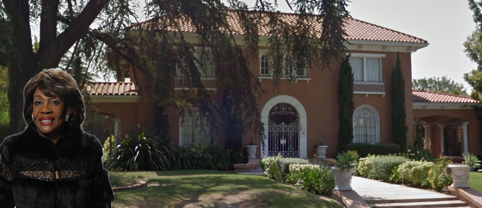 VIDEO: Busted Poverty Warrior Maxine Waters' Plush $4.5 Million LA Mansion: Indoor Swimming Pool; Outdoor Gates & Walls – True Pundit