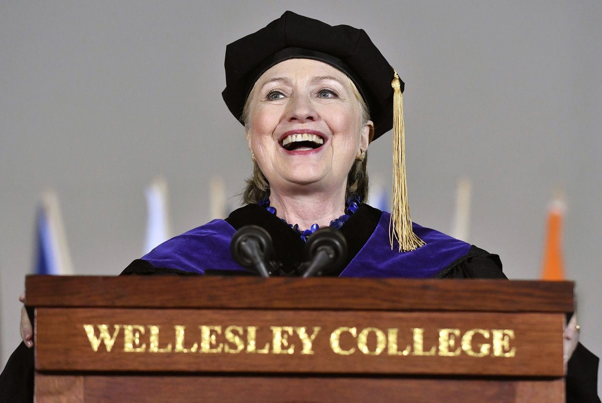 Wishful Thinking: Bitter Hillary Clinton References Trump Impeachment Talk During Wellesley Commencement Speech (VIDEO)