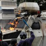 VIDEO: Armored Personnel Carrier Caught On Video Running Over Gaggle Of Venezuelans