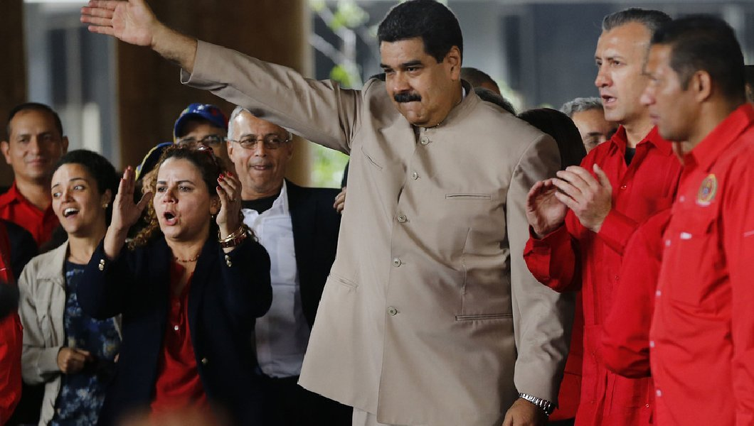 Venezuela's socialist president tells Trump: 'Get your dirty hands out of here'