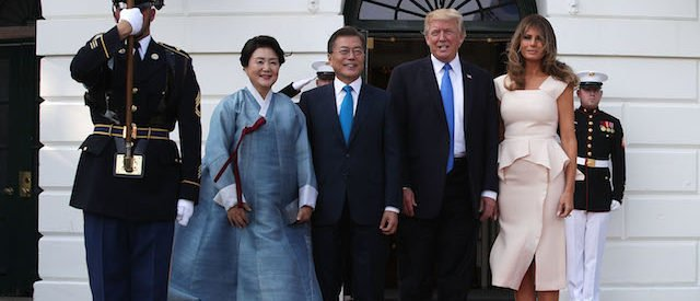Trump Says The U.S. Is Renegotiating Its Trade Deal With Korea