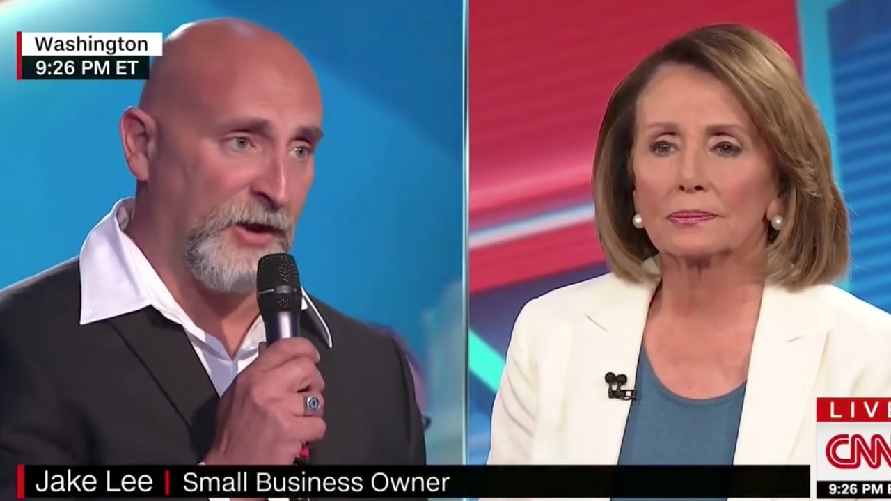 Watch: Small-business owner grills Nancy Pelosi at town hall over Dems' hypocrisy on Comey firing