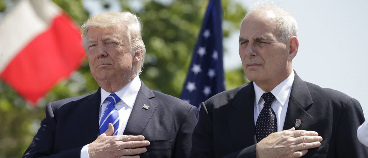 Trump Insists There Is 'No WH Chaos' As He Swears In A New Chief Of Staff
