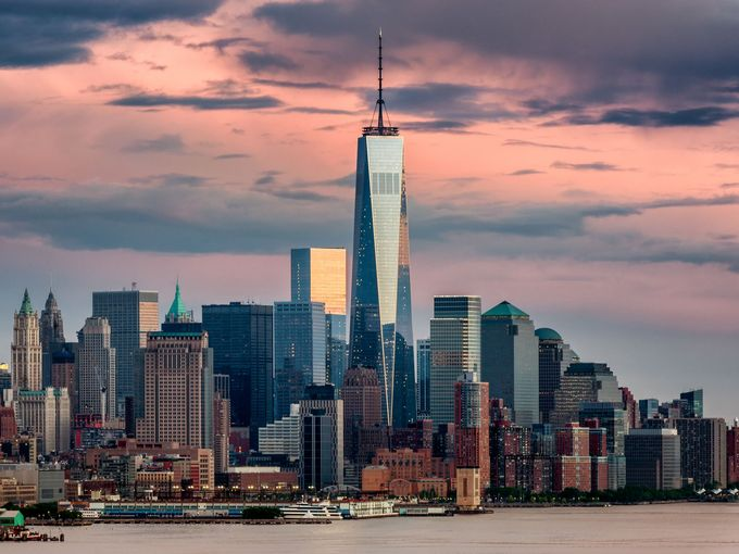 One World Trade Center Lit Up In Pink To Celebrate Ny Abortion Law