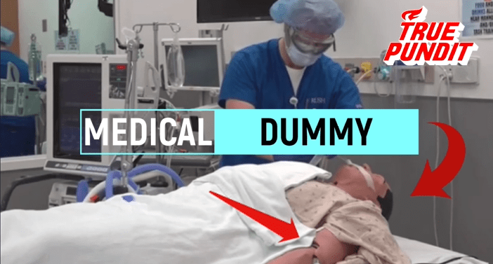 SHOCK VIDEO: TV News Media Films Dying Coronavirus Victim on Ventilator in NYC Hospital -- But 'Patient' Is Actually a Mannequin – True Pundit