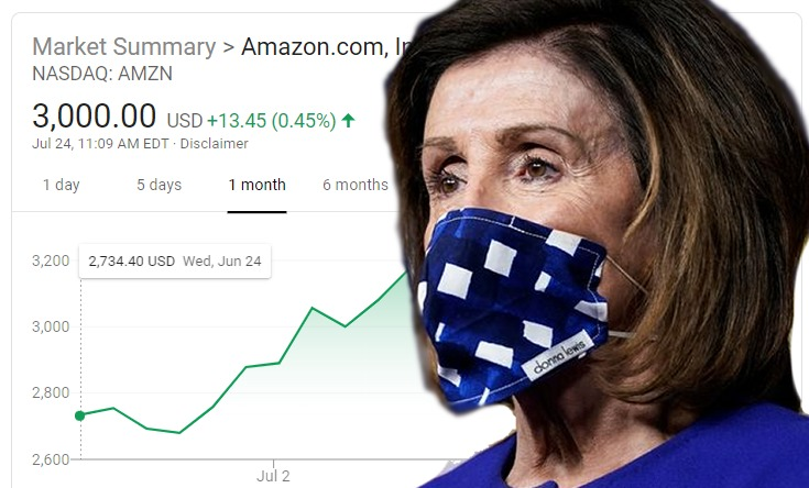 CRIME PAYS: Bandit Nancy Pelosi Pockets $6 Million in Amazon Stock PROFITS; INSIDER TRADING Scheme Involved Purchase During Congressional Coronavirus Meetings Before U.S. Retailers Were Forced to Close – True Pundit