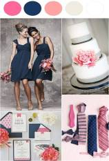 Navy and pink colour inspiration