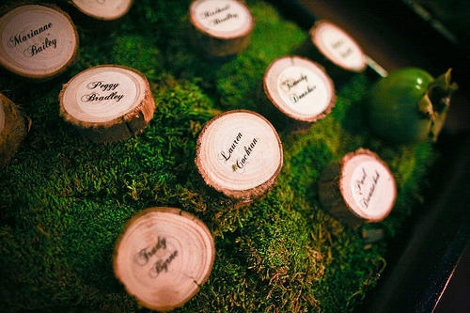 Woodland Wedding escort cards