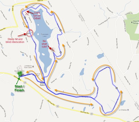 Church Tavern Biathlon Bike Course