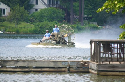 Allied Biological Captain and Crew on their lake treatment mission.