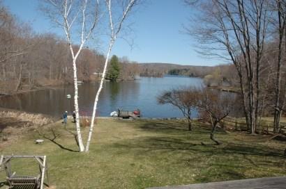 View of Truesdale Lake looking north from 3 Truesdale Lake Drive