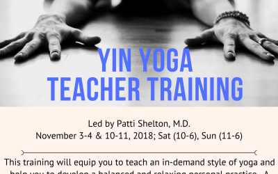 Yin Yoga Teacher Training November 3rd-4th & 10-11th