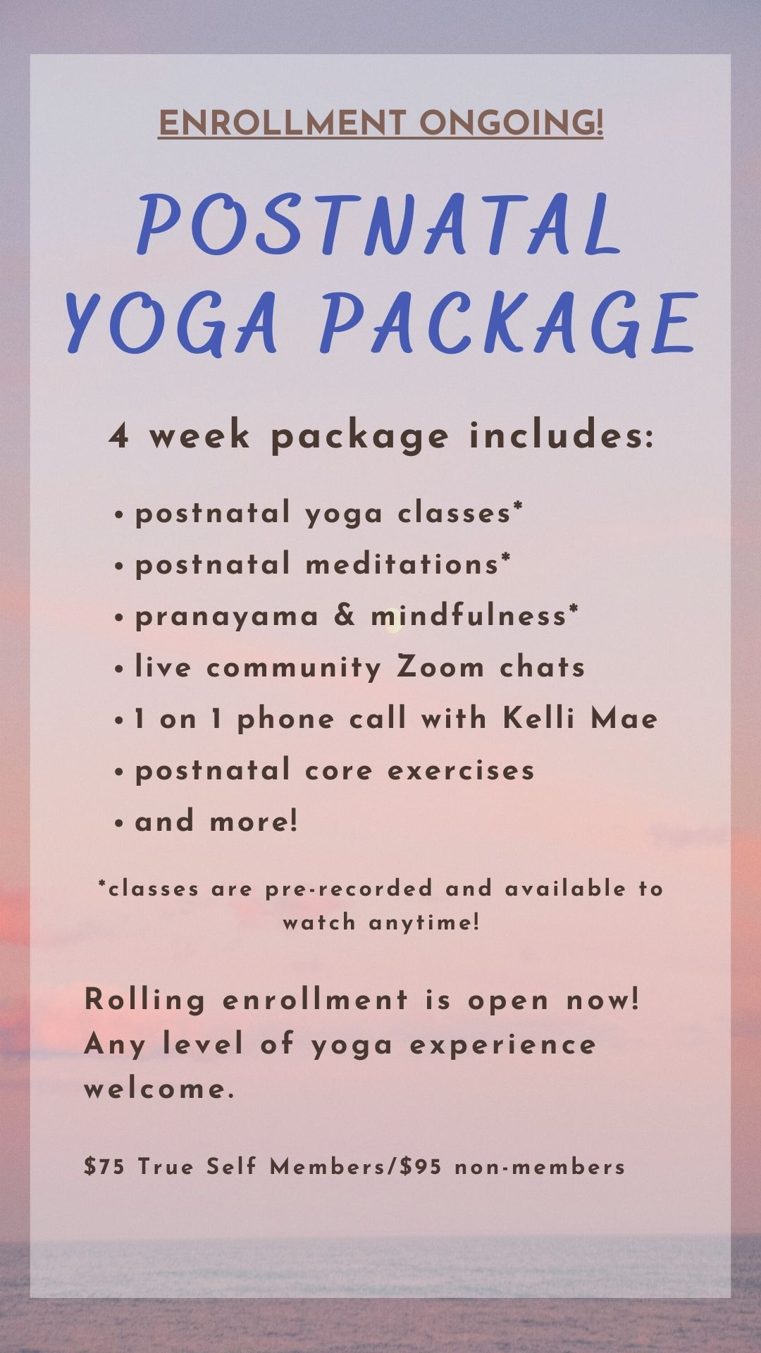 Postnatal Yoga Package