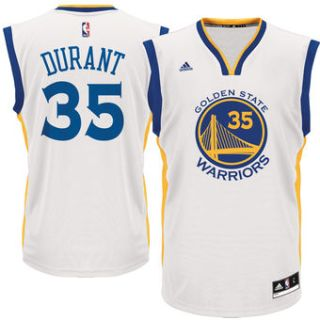 Kevin Durant Golden State Warriors adidas Replica Basketball Jersey - White