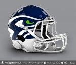 Fan Made Seahawks-Helmet