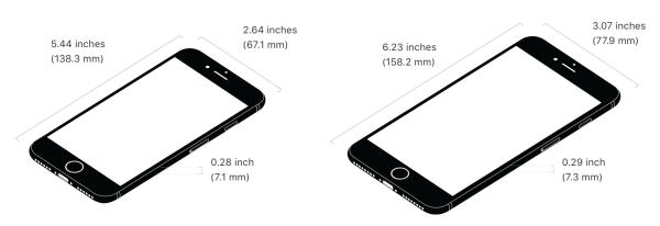 iPhone 7/ 7 Plus dimensions
