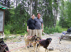 Us with the dogs