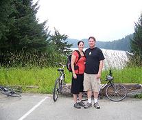 Biking near the University of Alaska, Juneau