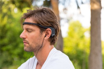 Man Using Muse Meditation Headband