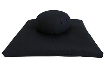 Buckwheat Zafu Zabuton Meditation Cushion Set