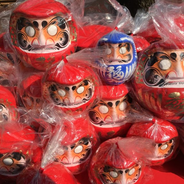 Daruma dolls for wishes and intentions -- photo by Lauren Shannon