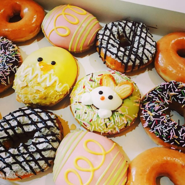 Spring themed Krispy Kreme donuts we shared at work-- photo by Lauren Shannon