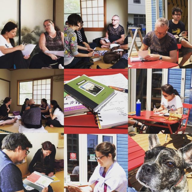 Collage from the spring 2016 writer's retreat in Onjuku, Chiba-- photo by Lauren Shannon