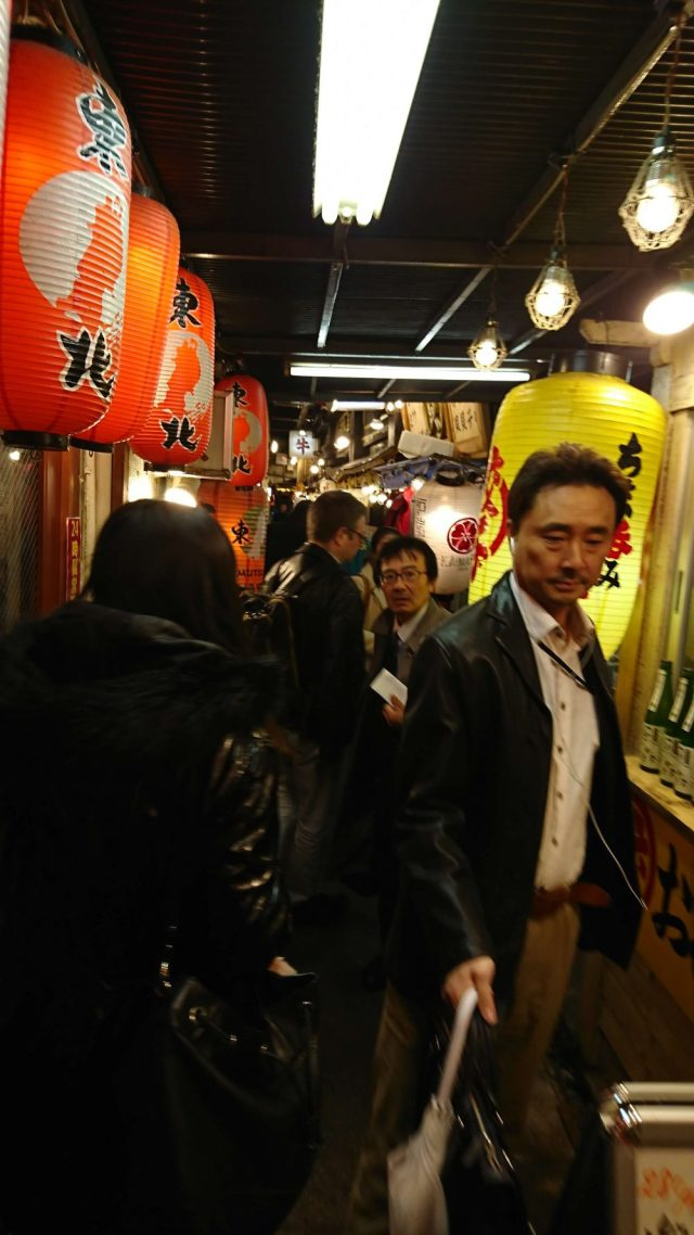 Narrow alleys filled with great pubs and food stalls -- photo by Hanna Takeuchi