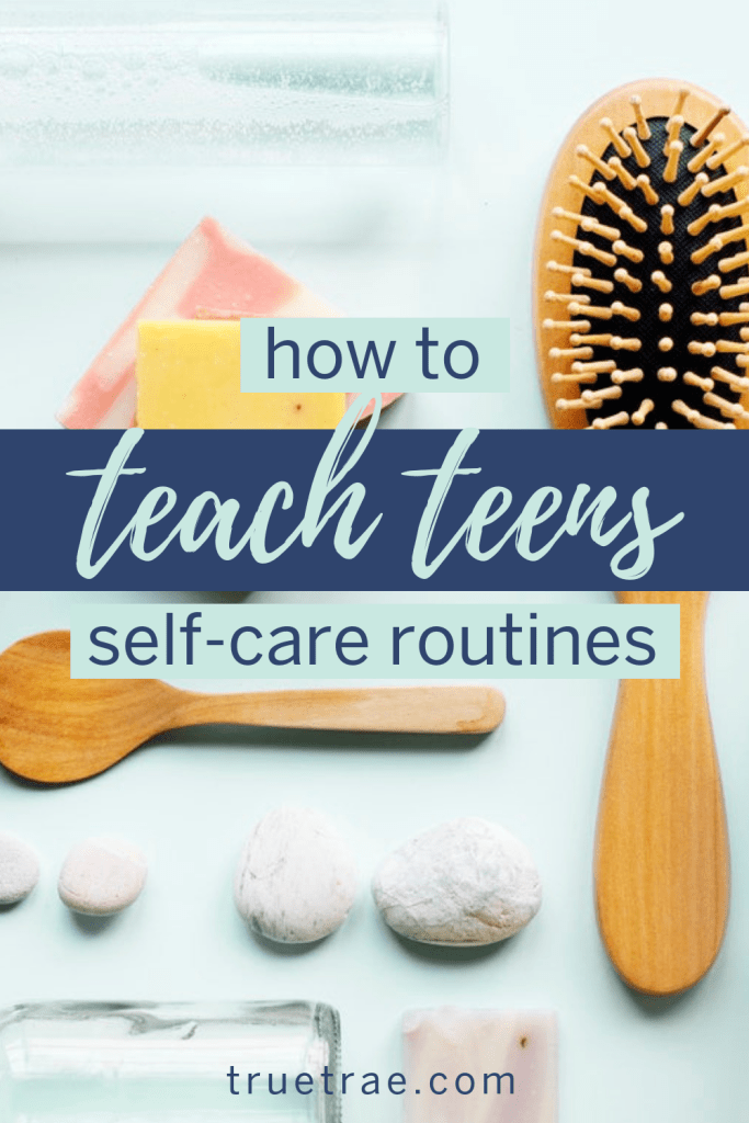 Life can be so all-encompassing that we sometimes forget to pause and teach them what they need to know before they leave the nest – like teen self-care. #selfcare #howtoselfcare #selfcarepractices #selfcareroutine #teachingteens #momsofteens