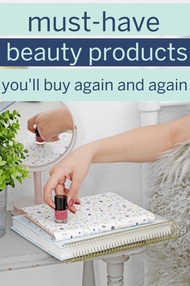 When it comes to the best beauty products, few factors mean as much as buying a product again (and again!). Here are the products I can't live without! #beautyproducts #bestbeautyproducts #bestmakeup #besthairproducts #bestskincare #makeuponabudget #skincaretips #makeuptips #hairtips