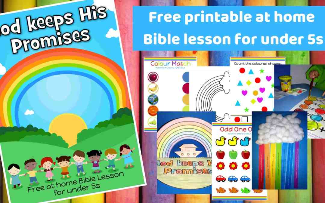 God keeps His Promises – Free printable Bible lesson for preschoolers