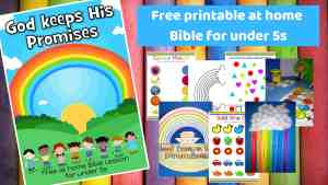 God keeps His promises - Free printable at home Bible lesson for under 5s
